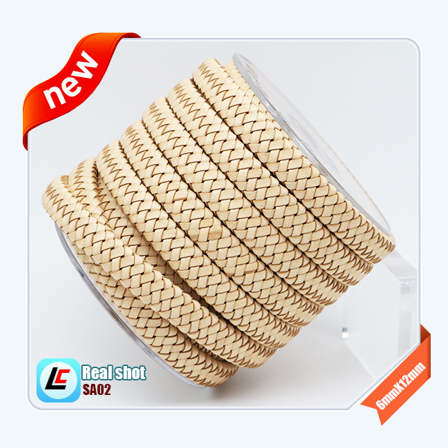 12mm,10mm,8mm flat bovine leather Cord weaving