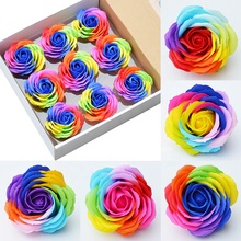 Discounts and promotions for teachers' day <strong>gifts</strong> artificial 7 different colours of soap flower roses