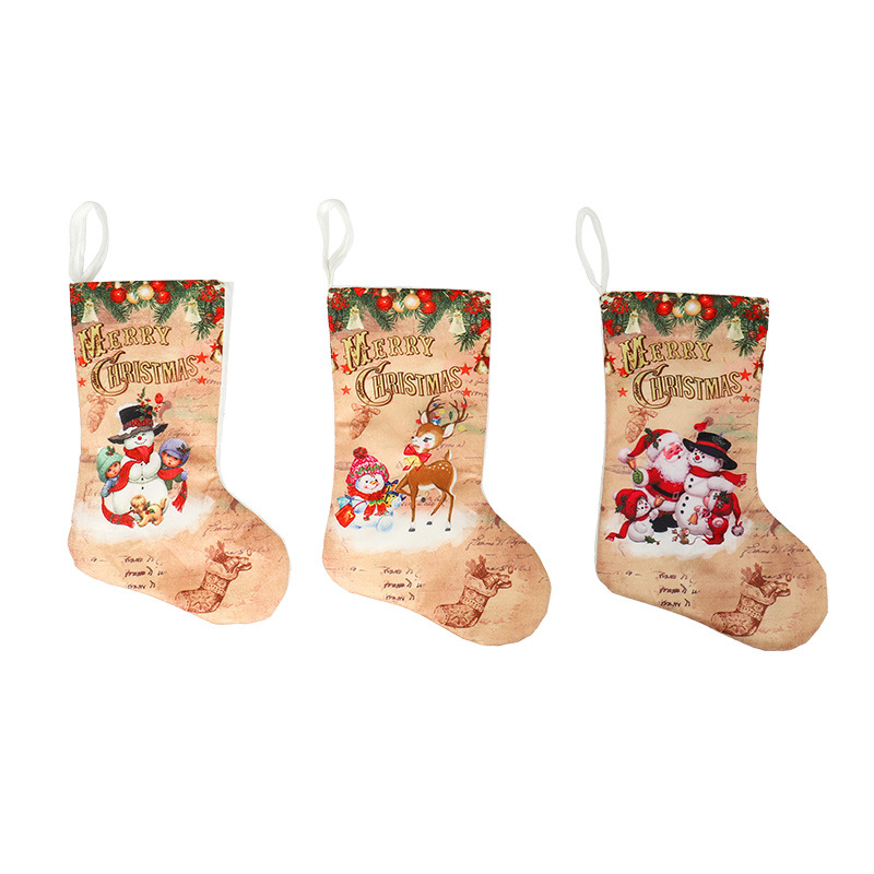 Xmas Holiday Unisex Christmas Stocking Christmas <strong>decoration</strong>