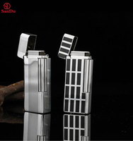 High quality Solid Brass Luxury dunhill Flint Wheel Lighter