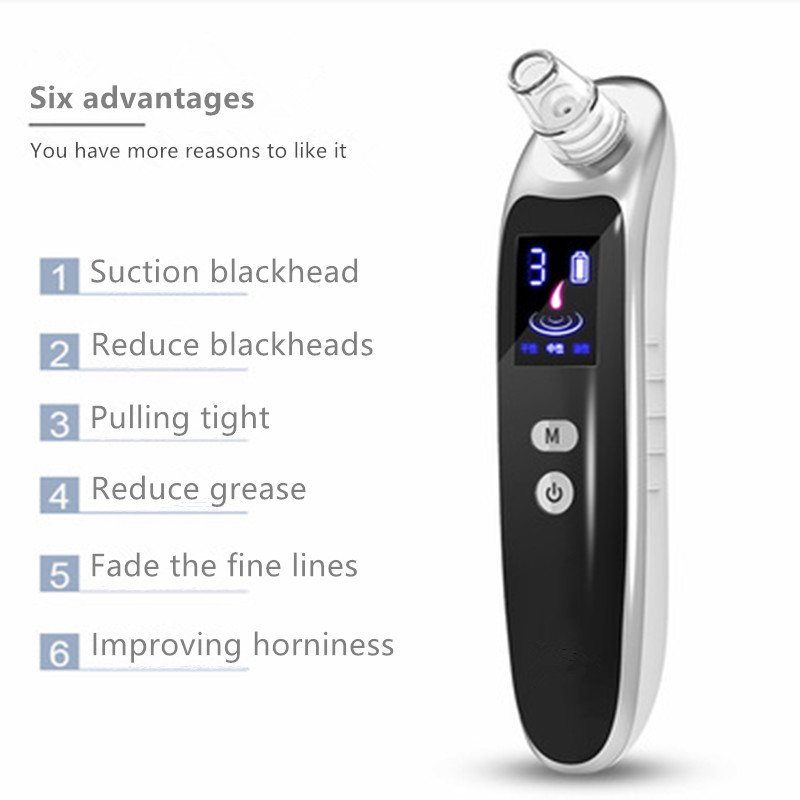 Blackhead Extractor Tool Electric Suction Facial Comedo Acne Blackhead Vacuum Cleaner for Women & Men