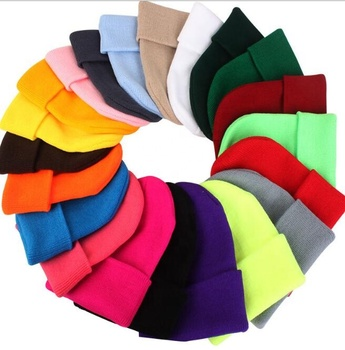 High quality Acrylic winter Beanie Knit Hat / unisex Knitted Hat