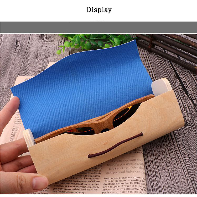 Portable bamboo Wooden Sunglasses Box Case one piece Eye Glasses Clam Shell Protector  buying in bulk wholesale