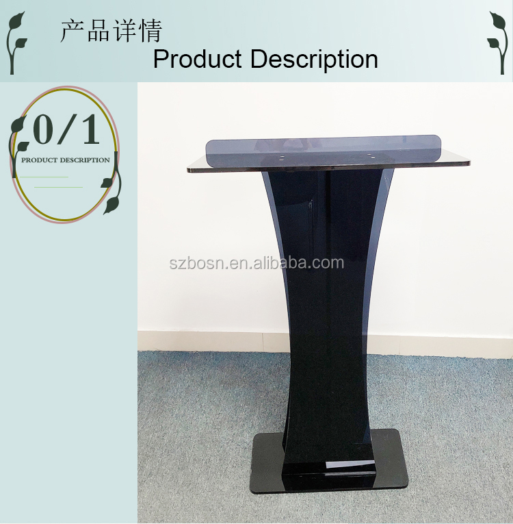 Factory customized Fixture Displays PMMA Acrylic Podium Clear Lectern Church Pulpit