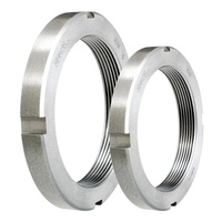 304 Stainless steel DIN 981 KM Shaft Lock Nuts Round Slotted Bearing Locknuts