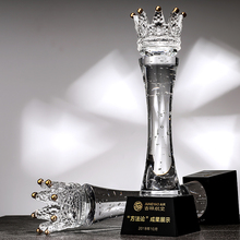 Sandblasting Crystal <strong>Crown</strong> K9 trophies With Cheap Price