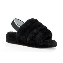 Hot sale ladies comfortable sheepskin slide shoes women fur <strong>slippers</strong> with elastic band