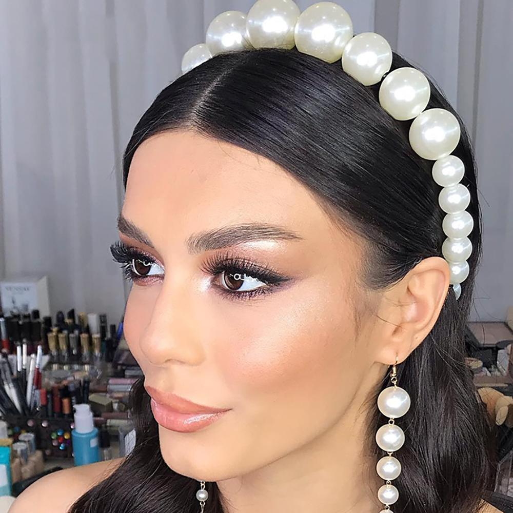 2019 new size pearl headband simple ladies sweet wild ladies <strong>hair</strong> headband <strong>hair</strong> <strong>accessories</strong>