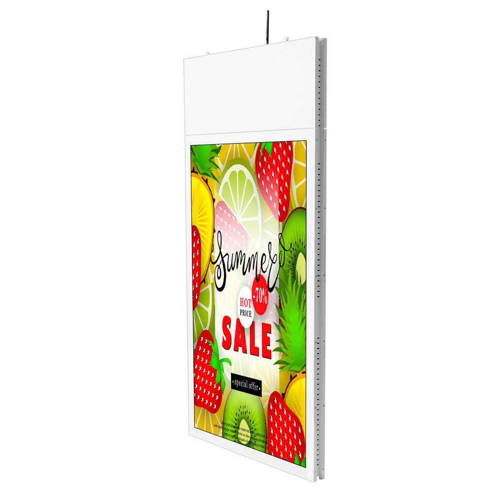 43 inch dual screen <strong>advertising</strong> hanging double sided digital signage kiosk