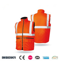 High Quality High visibility Reflective Men Parka Safety Winter Jackets