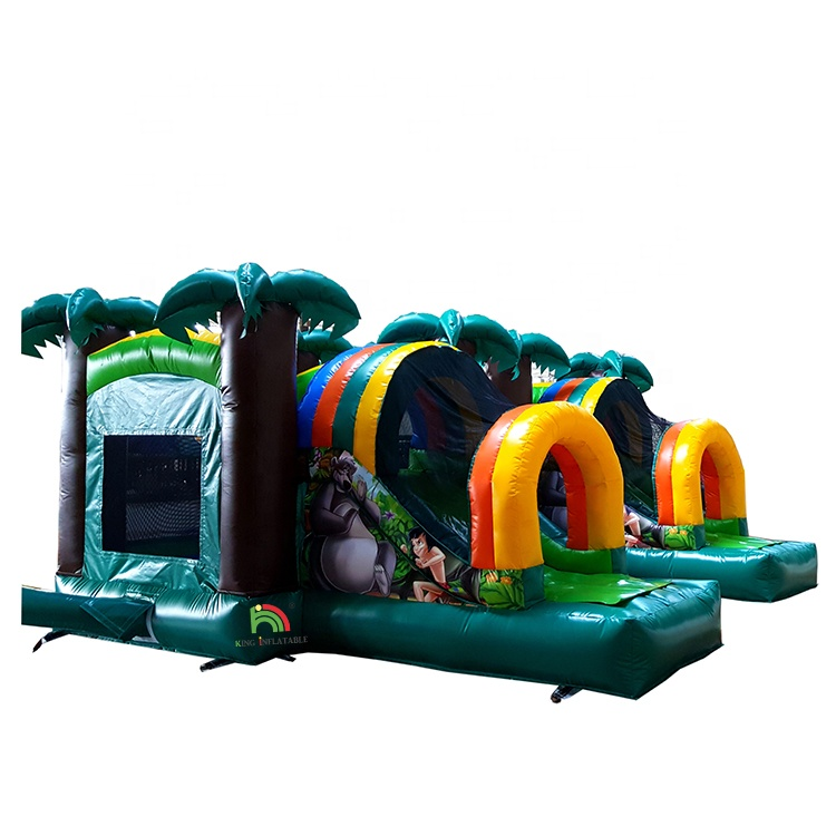 Jungle Used Commercial Bounce Jump House Inflatable Castle Bouncy Slide For Sale