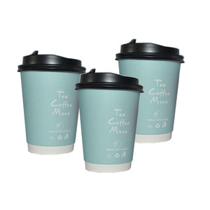 8oz 12oz 16oz Food Grade Double wall Coffee Cup PLA Paper Material Coffee Cups Available take away paper cups