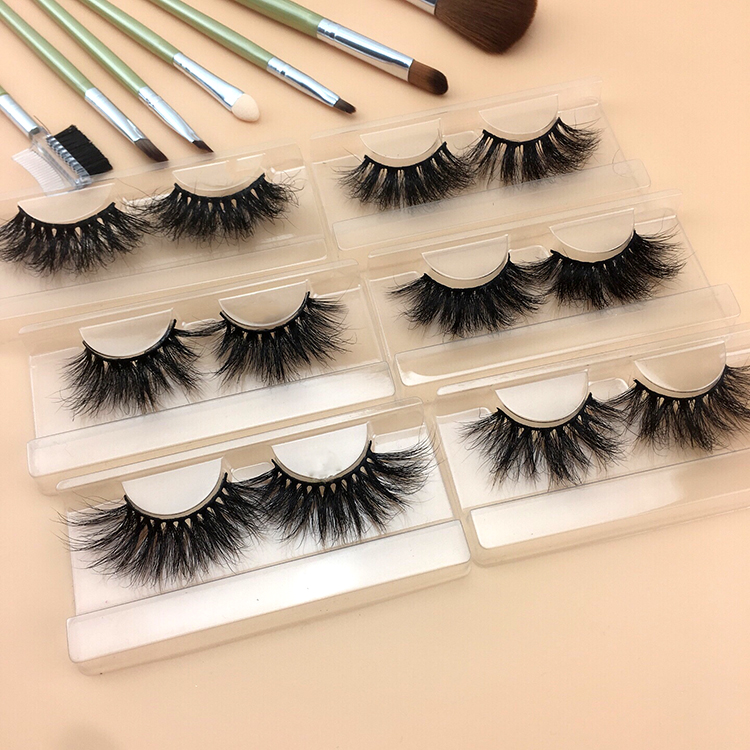 Lashdoll 2019 new arrivals Full Strip Lashes long dramatic 3d Mink Eyelashes Private Label 25mm eyelashes