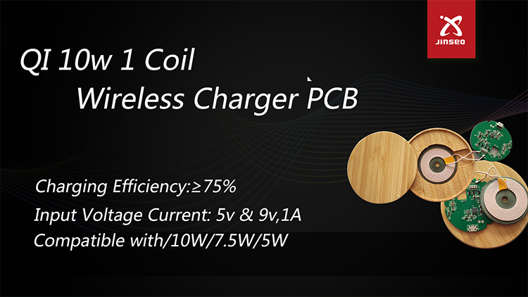 Free sample single coil 10 w wireless charger pcba
