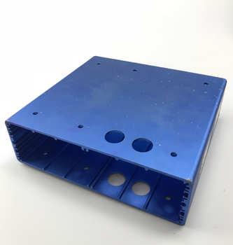 Laser Machining aluminum audio amplifier enclosure CNC machined 6063 aluminum electronic enclosures boxes