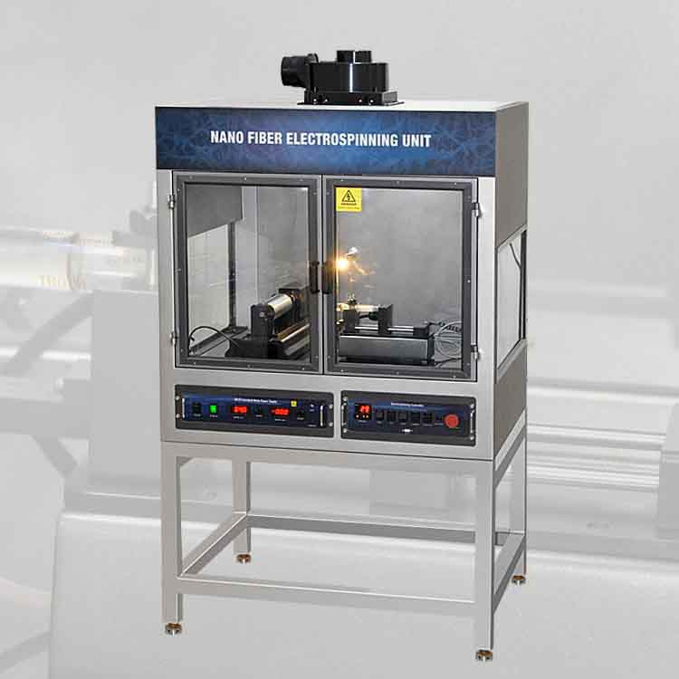 Compact nano fiber electrospinning machine with rotating mandrel for carbon nanotubes preparation