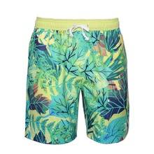 Yuepai Sublimation printing Customized Board Shorts Recycled Polyester 4 Way Stretch Beach Wear Shorts For <strong>Men</strong> and Women