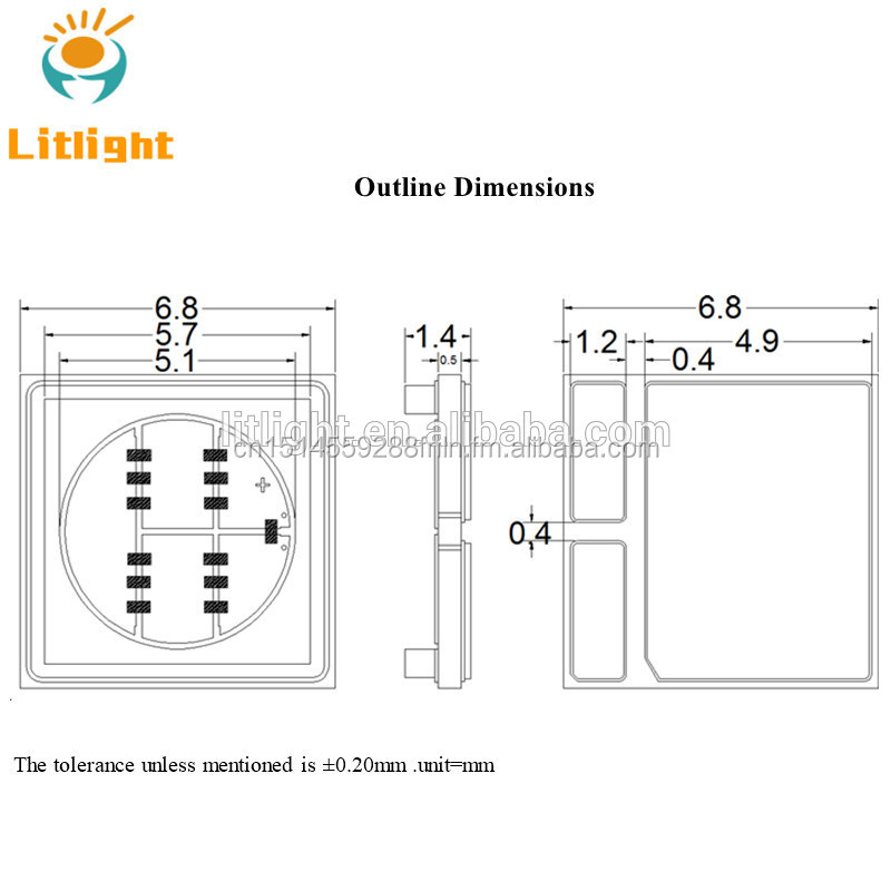 10W High Power LED 270nm optische Leistung 80-100mW 280nm UV-C