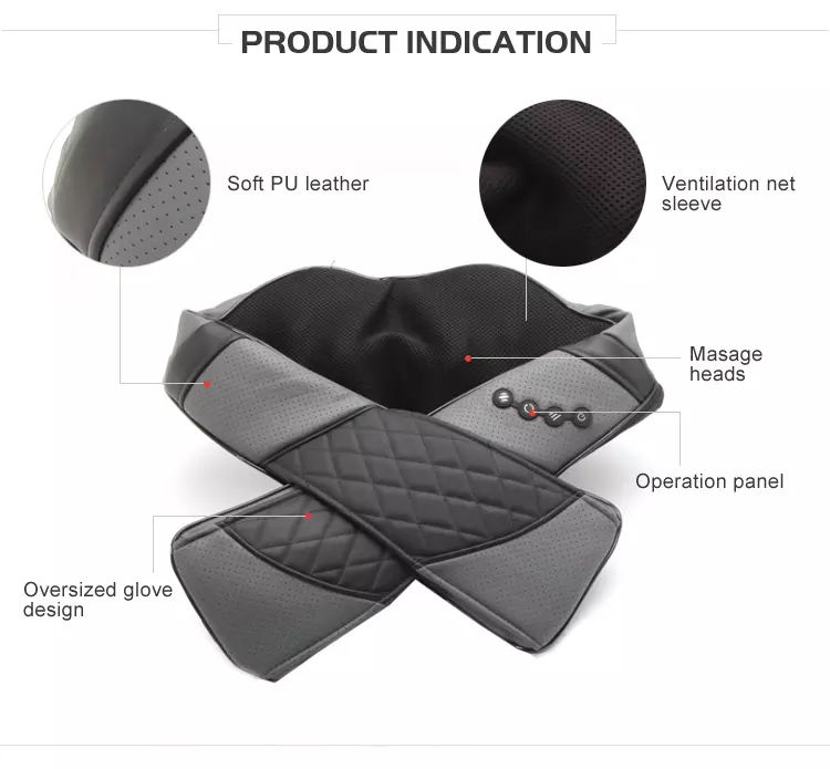 2020 Handheld professional electric back massager Heated Back Chair Cushion Car Seat Home Pad Pain Lumbar Neck Shoulder Massager