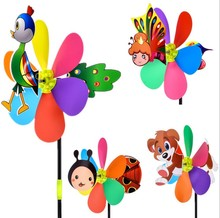 Children funny spinning windmill, plastic pinwheel, interesting toy windmill For kindergarten decoration windmill toys wholesale