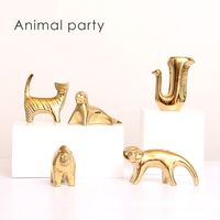 High quality Gold Animal Shape Hand Make Living Room Nordic Decoration Home