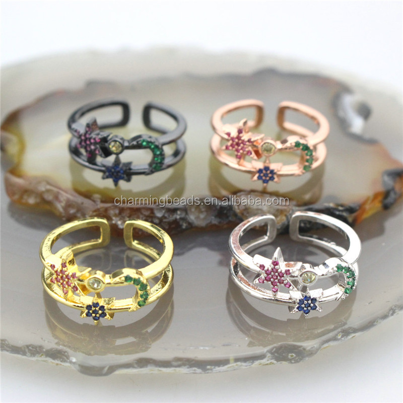 CH-CKR0035 Fashion enamel star ring,adjustable enamel good plating ring,popular ring jewelry cheap wholesale