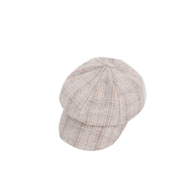 Yiwu manufacturer wholesale autumn and winter fabric striped cap custom outdoor warm hats for men and women