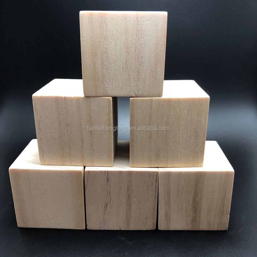 8mm, 10mm, 15mm, 20mm, 30mm, 35mm, 40mm, 50mm unvarnished pine wood cube, wooden block piece, DIY educational  craft