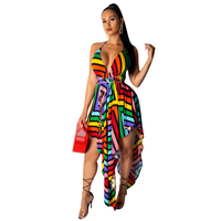 Wholesales summer new arrival ladies sexy asymmetrical beauty club spaghetti strap dresses for women