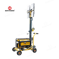 portable 4x50w led light tower with 2/3kw gasoline generator
