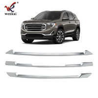 ABS Chrome Grille Overlay Front Grill Trim Covers Inserts For GMC TERRAIN 2018 2019