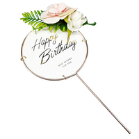 2020 New Festival Baking Party Supplies Cake Plugin Iron Flower Birthday Cupcake Plugin Cake Decorating Topper