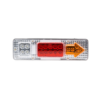 Auto car rear lights 12/24V tail light lamp 19 LED truck taillight for truck trailer turn signal tail light lamps bulbs