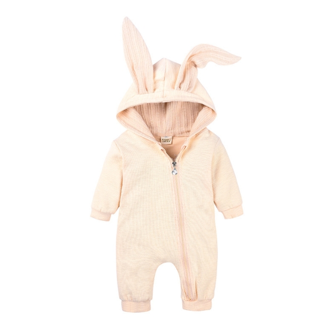 KS8012  fashion Knitted Cotton soft comfortable big-eared rabbit baby's rompers