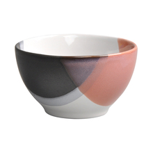 Hunan factory Sale Food Storage <strong>Containers</strong> 4 colors choose reactive glazed ceramic rice bowl