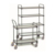 Durable stainless steel 3 shelves hand cart food serving trolley