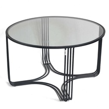 Mayco Metal Wire Coffee <strong>Table</strong> with Glass Top for Living Room