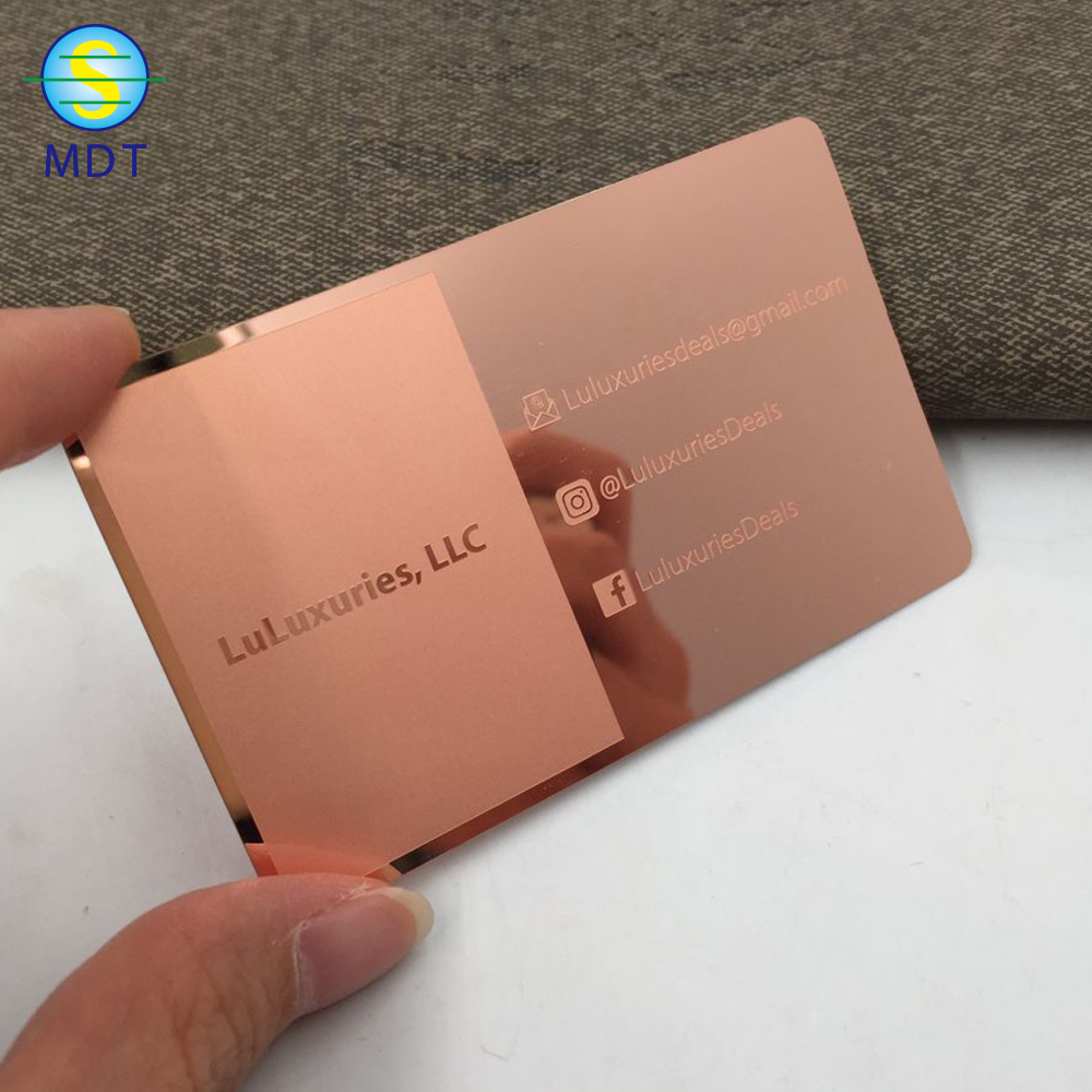 Rose Gold Visiting Business Card <strong>Metal</strong>