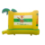 Jungle Printing Inflatable Air Bouncy Jumping Castle Bouncer Trampoline Kids Party Bouncers Moonwalks For Sale