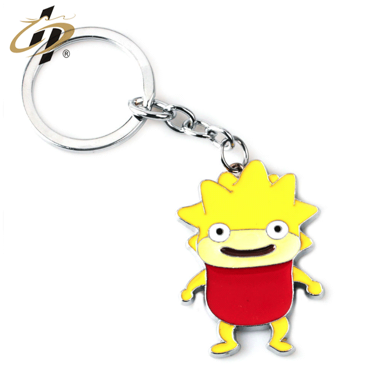 China manufacturer custom soft enamel cartoon funny metal keychains