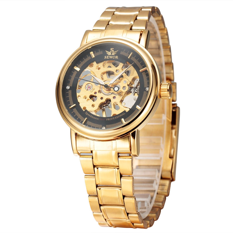SEWOR 606 Men Automatic Mechanical Watch Top Brand Luxury Casual Buckle Round Alloy Cooper Luxury Analog Business Wristwatch