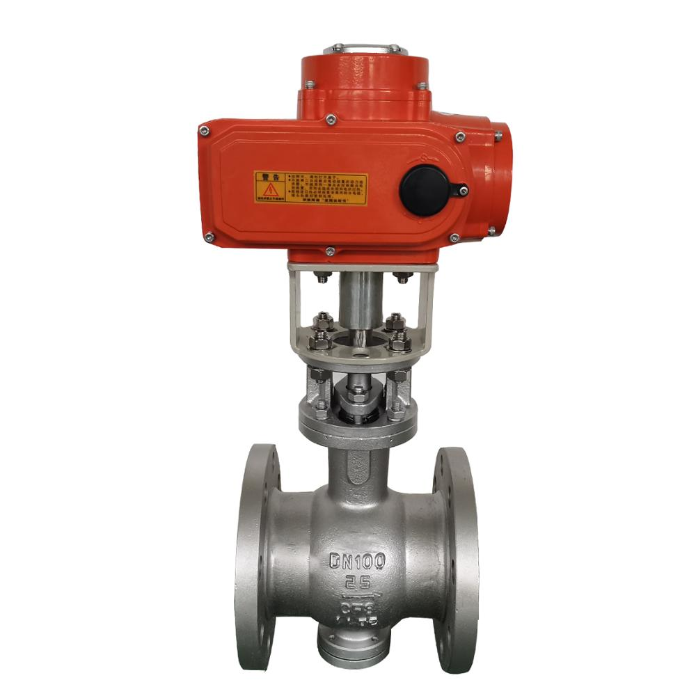 Stainless steel DN100 CF8 Electrically Actuated Flanged Water Gas Oil Ball <strong>Valve</strong>