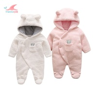 Factory wholesale custom warm thick fleece winter hooded snow suit baby snowsuit
