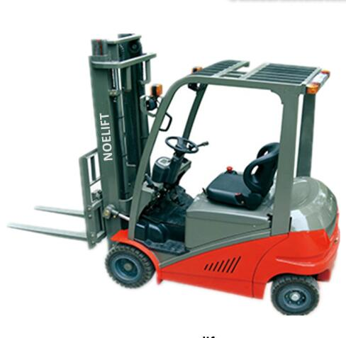2500kg 2 stage mast 4 wheel electric forklift of power pallet truck