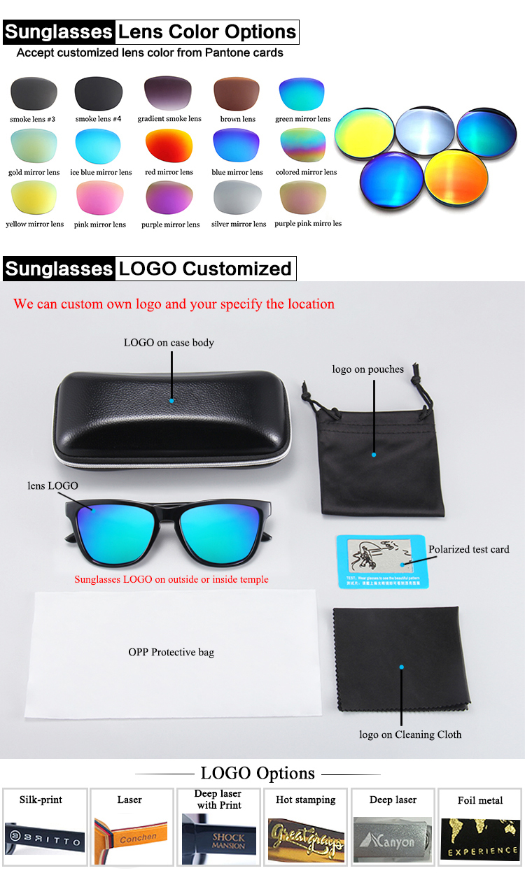 New arrival Amazon Hot Selling wholesale unisex Polarized plastic sport sunglasses for men