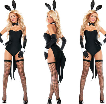 PoeticExst Sexy Halloween Costumes Bunny Erotic Bodysuits for Women