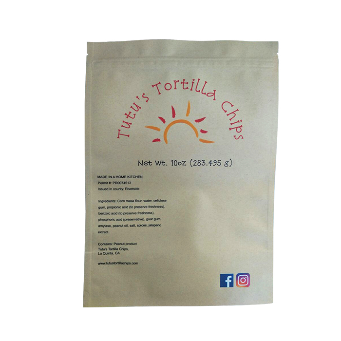 SGS Moisture Proof Coffee Packaging Bag Printed eco-friendly Kraft Paper Pouch