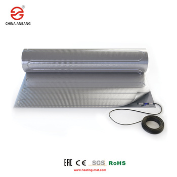Low Carbon Electric Wood Floor Warming System PTFE Wire Aluminum Foil Heating Mat For Office Building