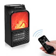 900w Mini Portable Office Air Warmer Remote Control Flame <strong>Heater</strong>