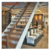 Wood stair treads aluminum single stringer stairs frameless glass staircase